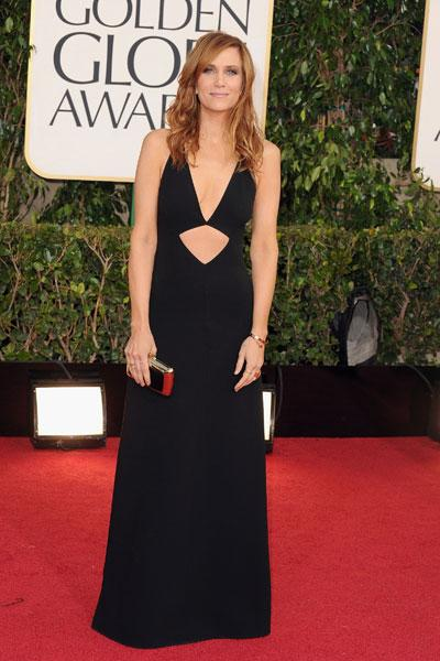 Kristen Wiig arrives at the 70th Annual Golden Globe Awards held at The Beverly Hilton Hotel on January 13, 2013 in Beverly Hills, California. (Photo by Steve Granitz/WireImage)