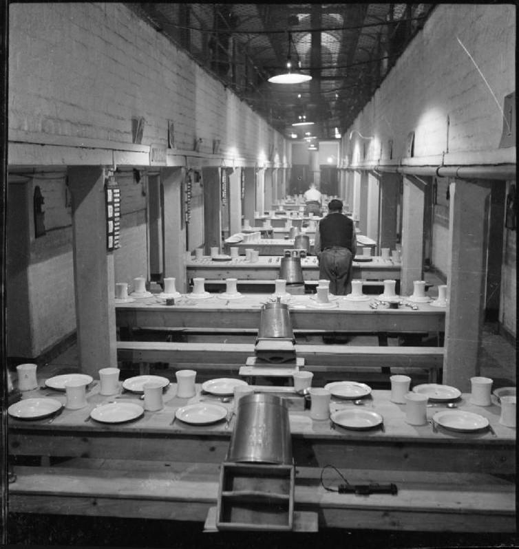"""<span class=""""caption"""">A British prison, 1944.</span> <span class=""""attribution""""><a class=""""link rapid-noclick-resp"""" href=""""https://commons.wikimedia.org/wiki/File:Wakefield_Training_Prison_and_Camp-_Everyday_Life_in_a_British_Prison,_Wakefield,_Yorkshire,_England,_1944_D19215.jpg"""" rel=""""nofollow noopener"""" target=""""_blank"""" data-ylk=""""slk:Wikimedia Commons"""">Wikimedia Commons</a></span>"""