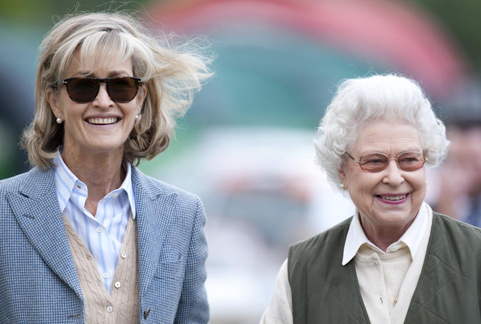 The Queen And Lady Penny Brabourne At The Royal Windsor Horse Show In Home Park, Windsor. (Photo by Mark Cuthbert/UK Press via Getty Images)