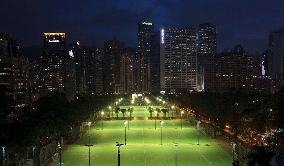 The football pitches in Victoria Park were empty on June 4 this year after the annual Tiananmen Square vigil was banned for the second year in a row. Photo: May Tse
