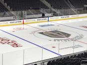 <p>The team stripped all advertisements off the boards in favour of a unifying message. (GoldenKnights/Twitter) </p>
