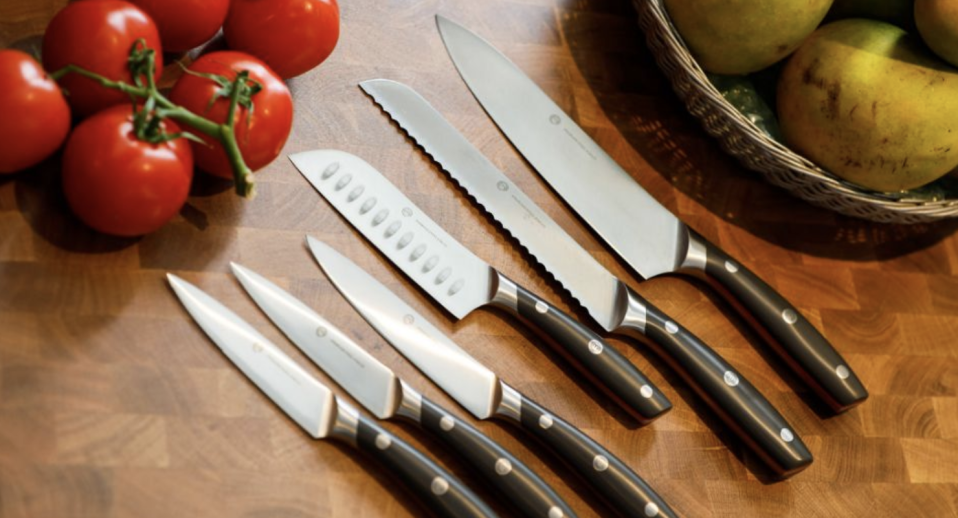 Coles MasterChef knives pictured.