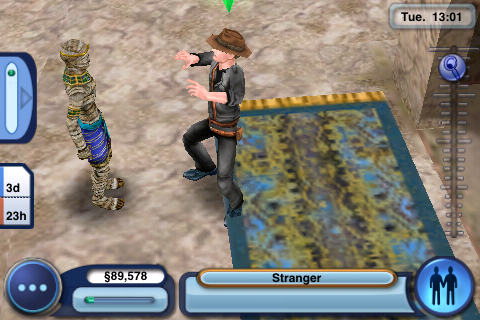 The Sims 3 iPhone footage