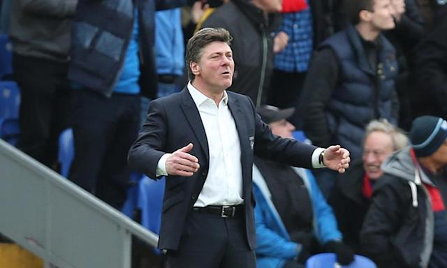 "<span class=""element-image__caption"">Walter Mazzarri, pictured doing his Three Tenors' impersonation, needs a crescendo to Watford's season.</span> <span class=""element-image__credit"">Photograph: PPAUK/Rex/Shutterstock</span>"