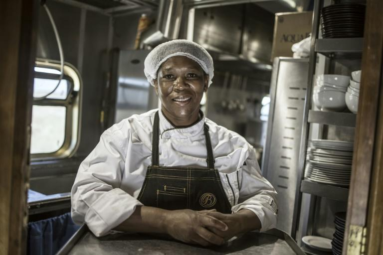 Blue Train staff like head chef Esther Ndhlovu put together menus of three to five courses along with wine pairings for the passengers