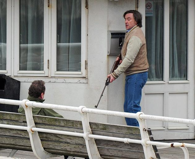 Alan Partridge on set