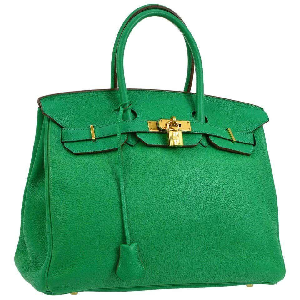 """<p><strong>Hermes</strong></p><p>1stdibs.com</p><p><strong>$20740.00</strong></p><p><a href=""""https://go.redirectingat.com?id=74968X1596630&url=https%3A%2F%2Fwww.1stdibs.com%2Ffashion%2Fhandbags-purses-bags%2Ftote-bags%2Fhermes-birkin-35-apple-green-leather-gold-carryall-top-handle-satchel-tote%2Fid-v_10478052%2F&sref=https%3A%2F%2Fwww.townandcountrymag.com%2Fstyle%2Fcollectibles%2Fg34288980%2Fwhat-to-buy-1stdibs-fall-2020-sale%2F"""" rel=""""nofollow noopener"""" target=""""_blank"""" data-ylk=""""slk:Shop Now"""" class=""""link rapid-noclick-resp"""">Shop Now</a></p><p>Look, investing in a Birkin isn't the worst idea. The iconic handbag performs better than the stock market— and it is much prettier. </p>"""