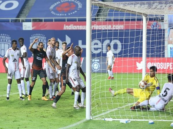 Amarjit Singh scored on debut for FC Goa when his header scrambled over the line (Image: ISL)