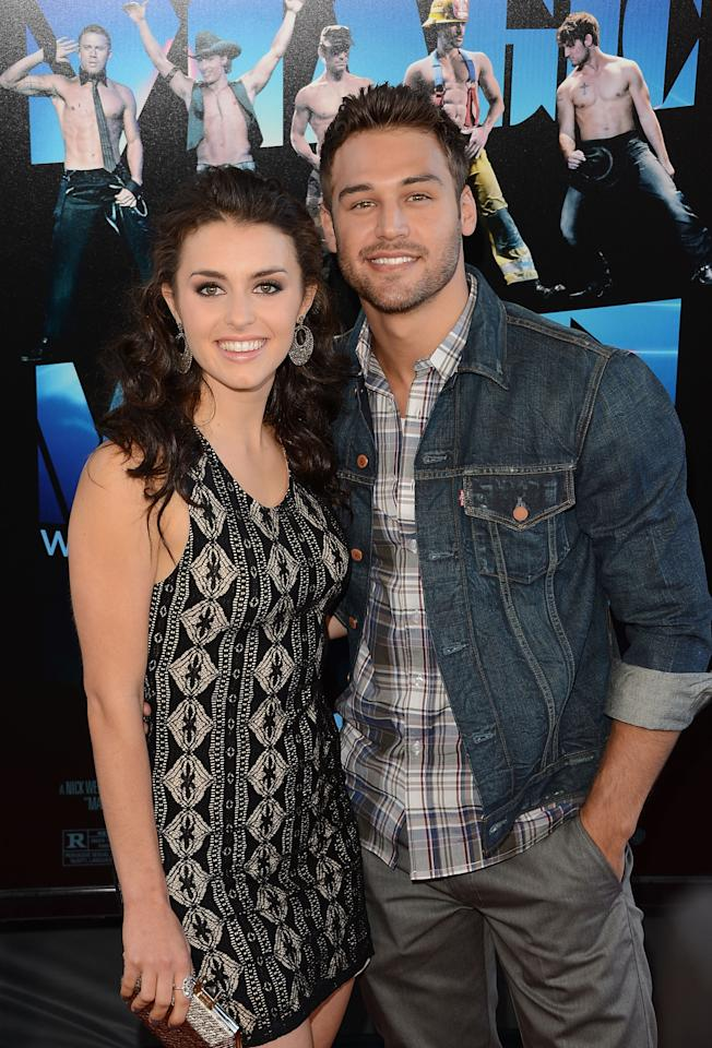 LOS ANGELES, CA - JUNE 24:  Actors Ryan Guzman and Kathryn McCormick arrive at the closing night gala premiere of 'Magic Mike' at the 2012 Los Angeles Film Festiva held at Regal Cinemas L.A. Live on June 24, 2012 in Los Angeles, California.  (Photo by Jason Merritt/Getty Images)