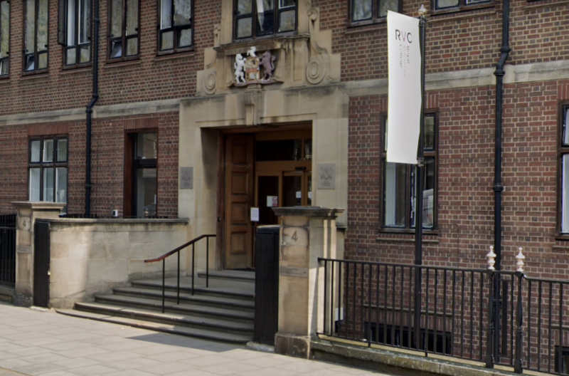 Picture of The Royal Veterinary College (RVC), in London, which released the controversial calendar.