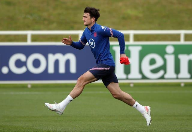 Harry Maguire is back in training but was unable to play England's Euro 2020 opener.