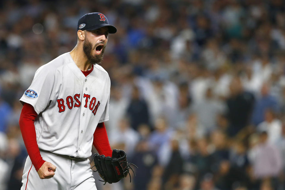 The Boston Red Sox are advancing to the ALCS after defeating the New York Yankees in four games. (Getty Images)