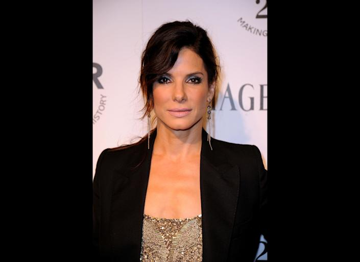 LOS ANGELES, CA - OCTOBER 27: Actress Sandra Bullock attends amfAR's Inspiration Gala at the Chateau Marmont on October 27, 2011 in Los Angeles, California. (Photo by Frazer Harrison/Getty Images)