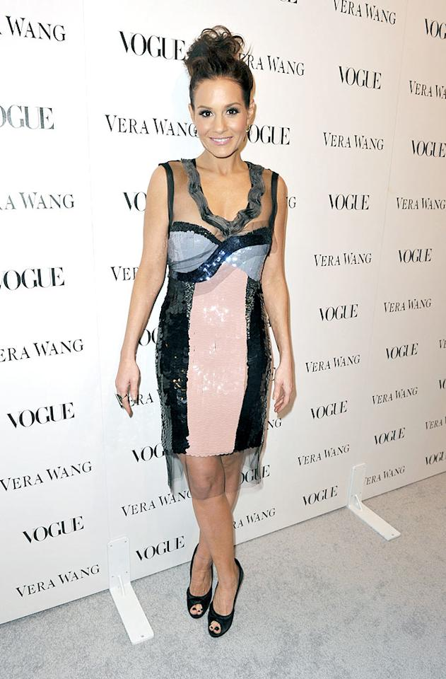 """Kara, we know Ellen's getting all the attention on """"Idol"""" these days, but wearing a wonky Vera Wang gown to Wang's own store launch isn't going to win you any more fans! Neapolitan ice cream anyone? John Shearer/<a href=""""http://www.wireimage.com"""" target=""""new"""">WireImage.com</a> - March 2, 2010"""