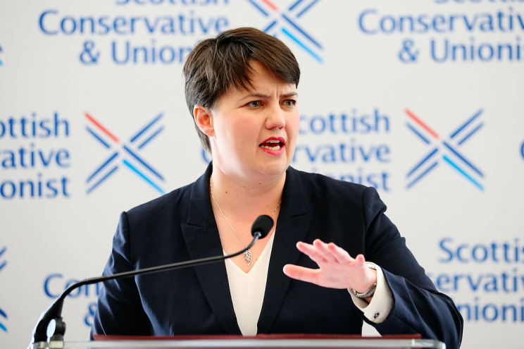 Scottish Conservatives leader Ruth Davidson is unhappy with the proposed union with the DUP (Picture: PA)