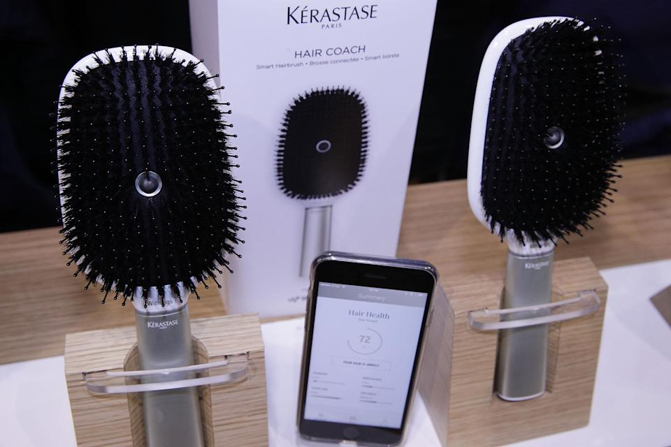 The Kerastase Hair Coach Powered by Withings. Photo by Alex Wong/Getty Images