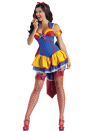 """<p>Instead of the fairest of them all, <a href=""""http://www.partycity.com/product/adult+poison+apple+body+shaper+costume.do?sortby=ourPicks&page=2&navSet=110777"""" rel=""""nofollow noopener"""" target=""""_blank"""" data-ylk=""""slk:this take on Snow White"""" class=""""link rapid-noclick-resp"""">this take on Snow White</a> might be the most flirtatious of them all. A getup like this will probably attract the attention of some Princes Not-So-Charming.<br>(Photo: Partycity.com) </p>"""