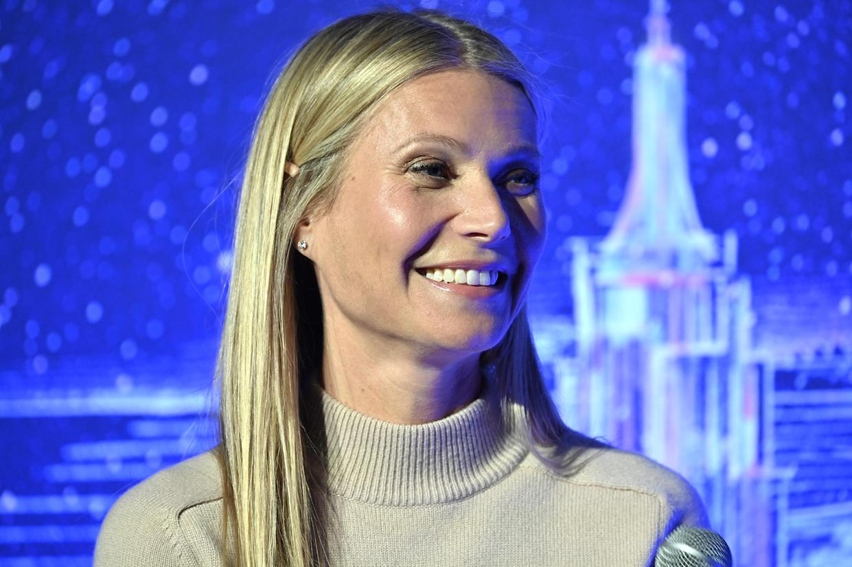 Gwyneth Paltrow hosts a panel in New York City in 2020. (Gary Gershoff/Getty Images)