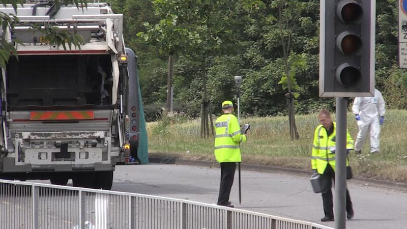 Police attend the scene of the crash (PA Images)