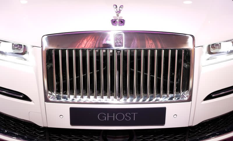 The new Rolls-Royce Ghost car is seen at the Rolls-Royce Goodwood factory near Chichester