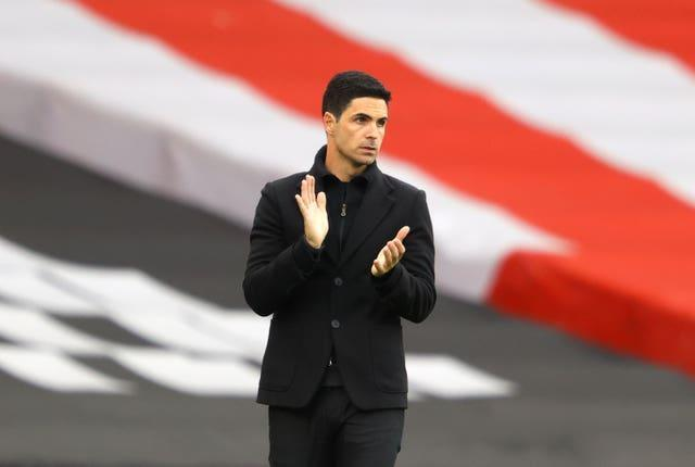 Mikel Arteta takes his Arsenal side to face Crystal Palace on Wednesday night.