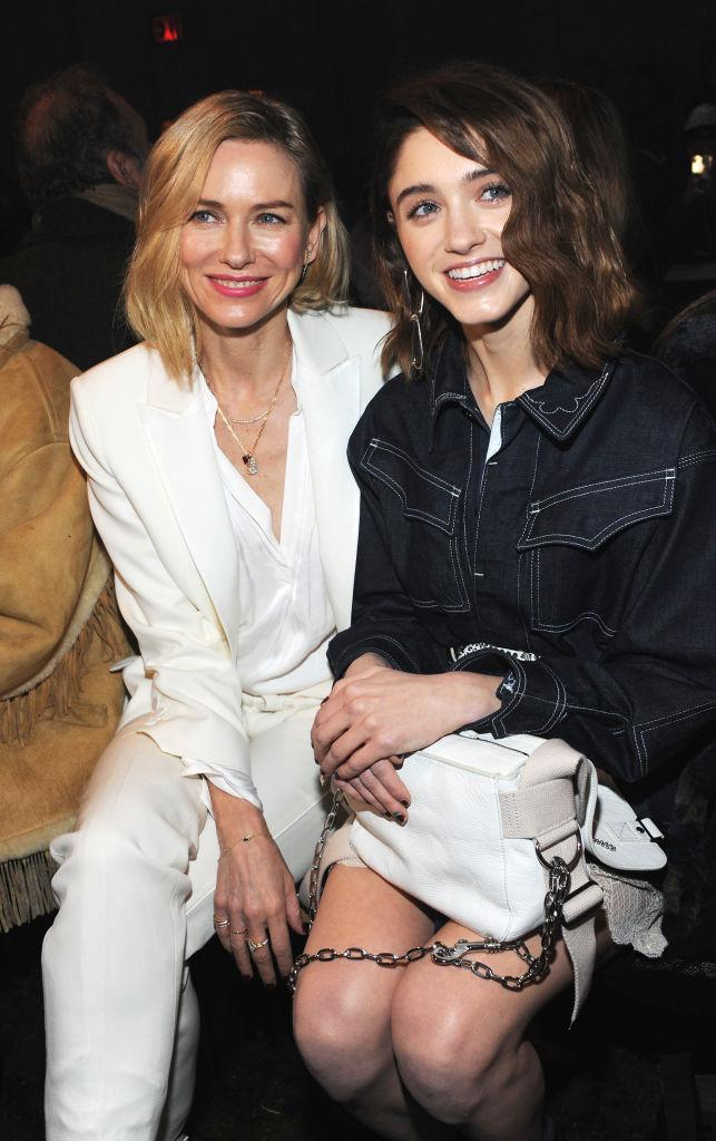 <p>Naomi Watts and Natalia Dyer sit FROW at the Zadig & Voltaire show. <em>[Photo: Getty]</em> </p>