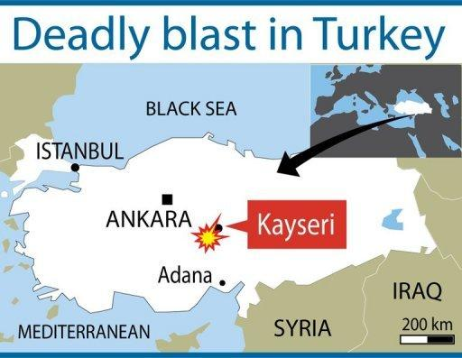 Turkish officials said two men drove their vehicle into a police station in Kayseri