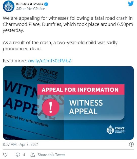 Police have appealed for witnesses. (Twitter/Police)