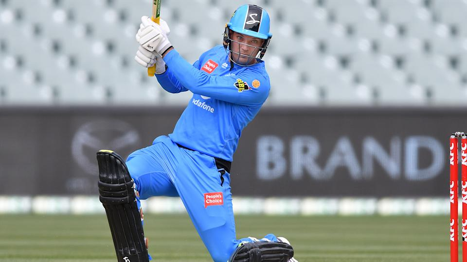 Alex Carey, pictured here in action for the Adelaide Strikers in the BBL.