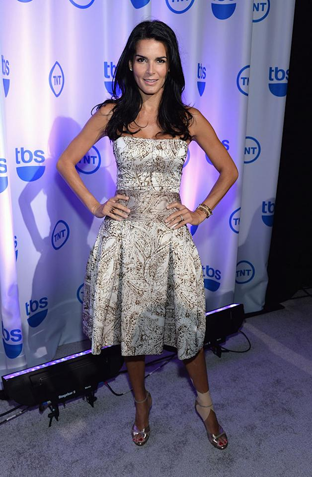 "Angie Harmon (""Rizzoli & Isles"") attends the 2013 TNT/TBS Upfront at Hammerstein Ballroom on May 15, 2013 in New York City."