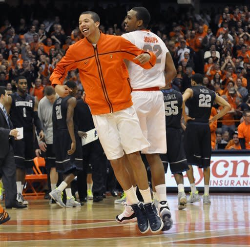 No. 2 Syracuse 64-61 in OT over No. 12 Georgetown