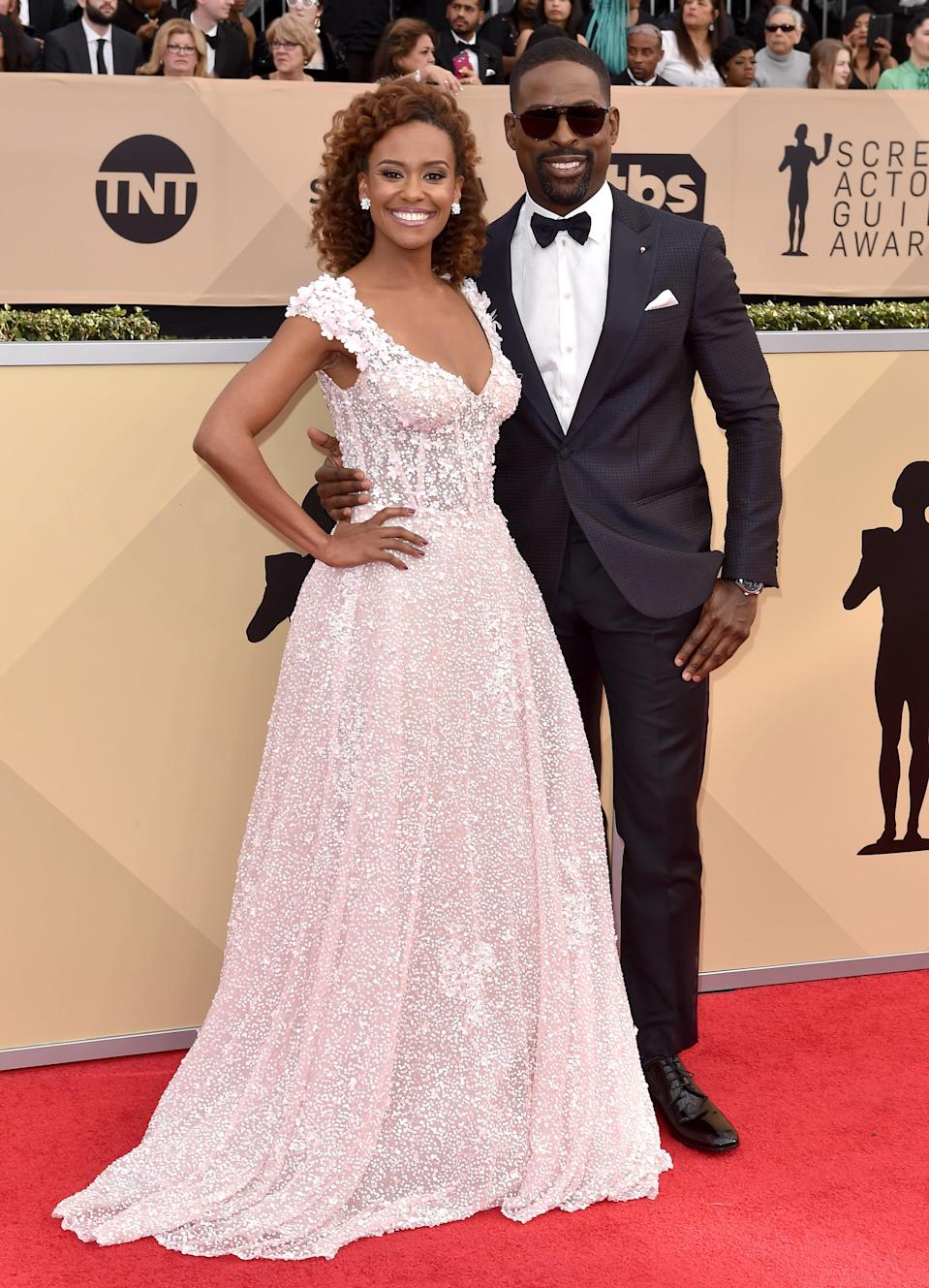 Ryan Michelle Bathe and Sterling K. Brown, 2018