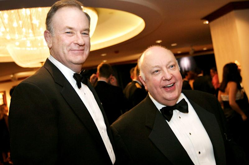 Former Fox News host Bill O'Reilly, left, has nothing but glowing praise for the network's founding CEORoger Ailes.