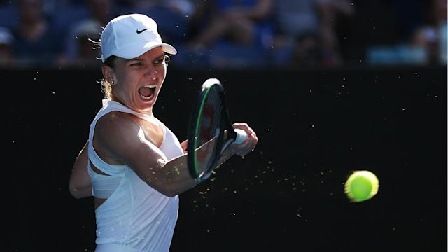 Simona Halep did not enjoy her day in the sun, falling to Garbine Muguruza in the Australian Open semi-finals on a red-hot Rod Laver Arena.