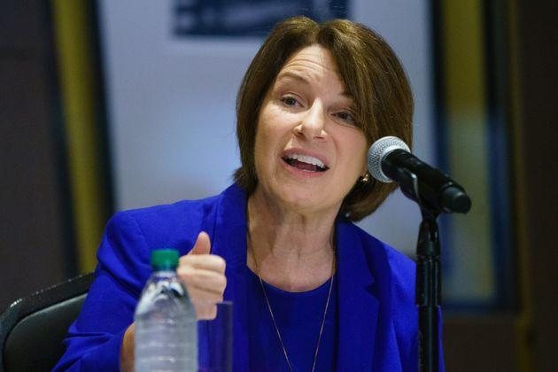 Sen. Amy Klobuchar (D-MN) seen in July announced Thursday that she underwent treatment for breast cancer. (Photo: Elijah Nouvelage via Getty Images)