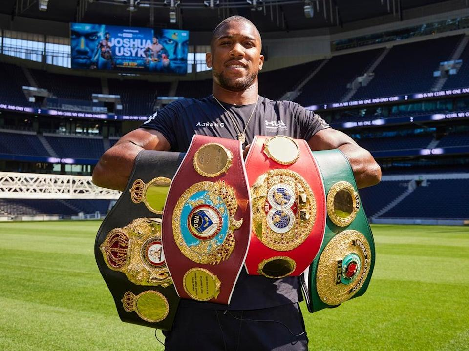 Anthony Joshua defends his titles this weekend  (Mark Robinson Matchroom Boxing)