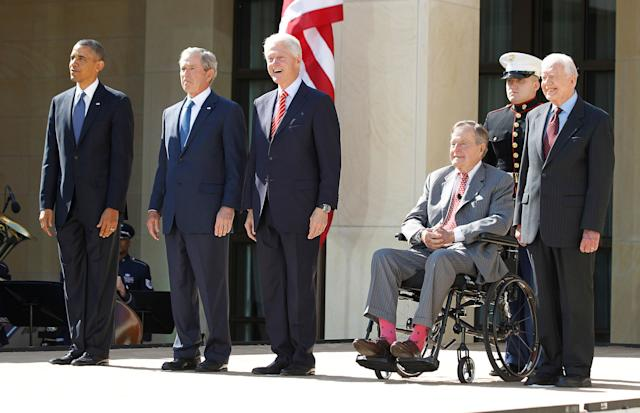 Former presidents Barack Obama, George W. Bush, Bill Clinton, George H.W. Bush and Jimmy Carter plan to attend a hurricane relief benefit in Texas on Oct. 21.