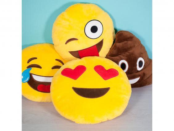 Show some love with this heart-eyed emoji cushion (Prezzy Box)