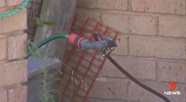 Ms Harrison had complained of a burning electrical smell before her daughter turned this tap on Saturday. Source: 7News