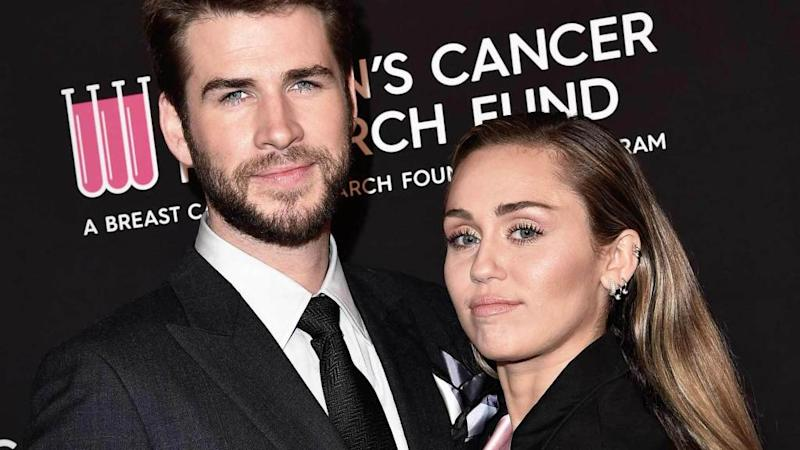 824a09b26 Miley Cyrus Pokes Fun at Liam Hemsworth Breakup Rumors on 10-Year  Anniversary