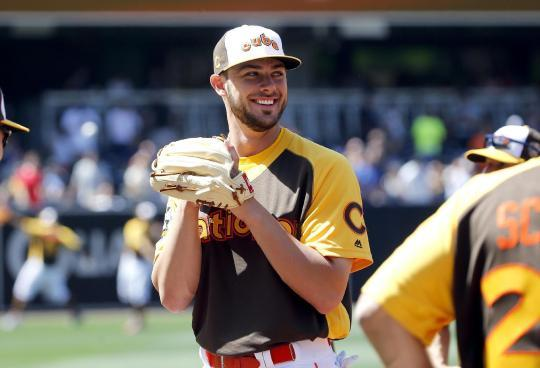 Kris Bryant was among six Cubs at the All-Star Game. (AP)