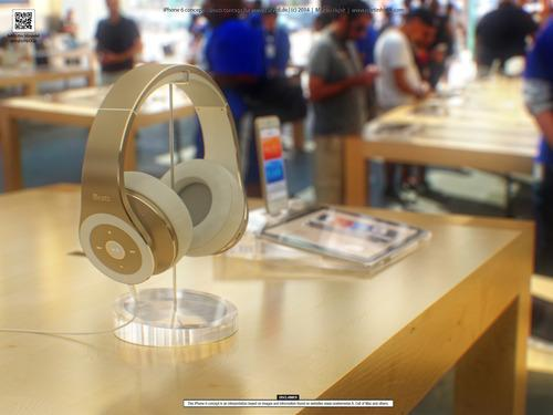 iBeats headphones concept drawing
