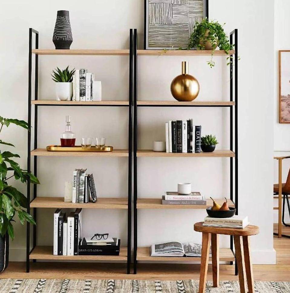 "<p>This <span>Project 62 72"" Loring 5 Shelf Ladder Bookcase</span> ($130) looks good on its own or doubled up with another one.</p>"
