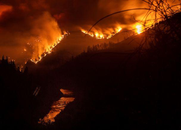 PHOTO: The Delta Fire burns in the Shasta-Trinity National Forest, Calif., on Wednesday, Sept. 5, 2018. (Noah Berger/AP)