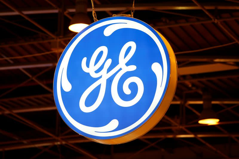 FILE PHOTO: The logo of General Electric is pictured at the 26th World Gas Conference in Paris