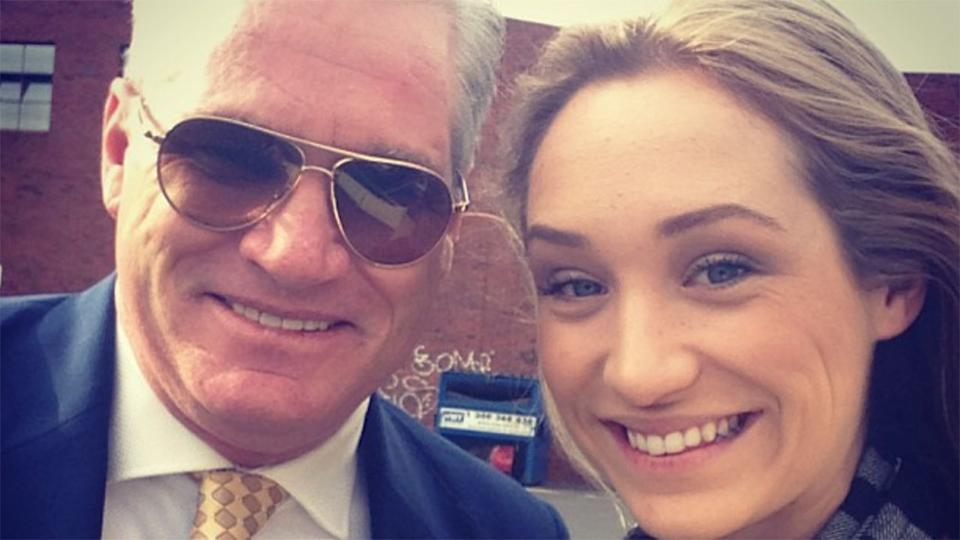 Seen here, Dean Jones and his daughter Phoebe smile for the camera.