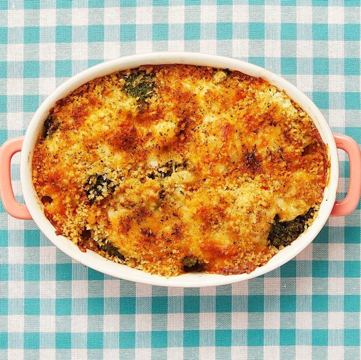 """<p>You don't have to choose between broccoli and cauliflower when it comes to this holiday casserole dish. Both are covered in a cheesy, creamy sauce that even picky eaters will love. </p><p><a href=""""https://www.thepioneerwoman.com/food-cooking/recipes/a11888/broccoli-cauliflower-casserole/"""" rel=""""nofollow noopener"""" target=""""_blank"""" data-ylk=""""slk:Get Ree's recipe."""" class=""""link rapid-noclick-resp""""><strong>Get Ree's recipe.</strong></a></p>"""
