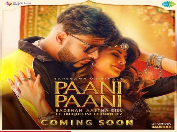 Cover Art of 'Paani Paani' (Image source: Instagram)