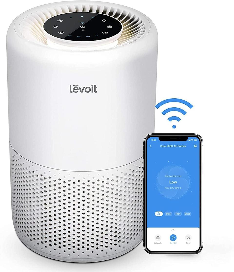 <p>The <span>Levoit Air Purifier</span> ($80, originally $90) is perfect for filtering dust, pollen, smoke, pet dander, mold spores, and more. It's a quite air purifier that you can control via Alexa or the smartphone app.</p>