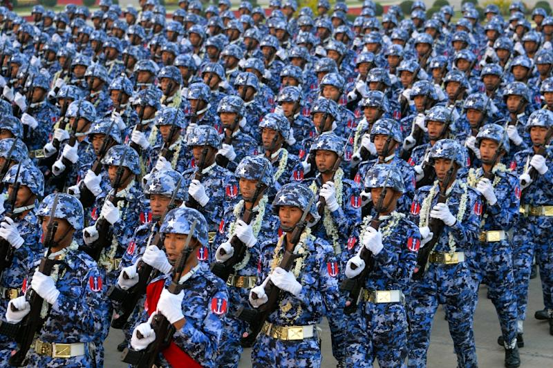 Myanmar is spending tens of millions on fancy new military hardware (AFP Photo/Thet AUNG)